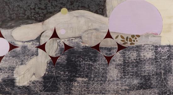 马琦《圆心》 布面油画 100x180cm 2015年