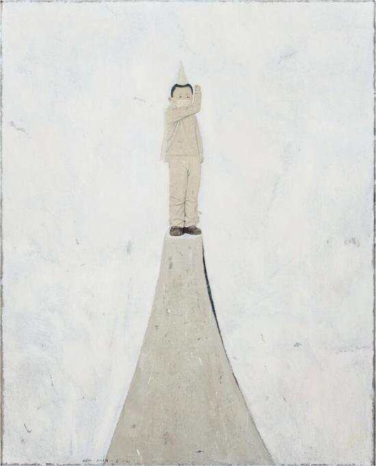 米杰《你快乐我忧伤6》150×120cm 布面油画 2015年