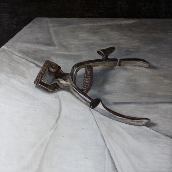 宁长亮 《推子》150x150cm 木板油画 2012年
