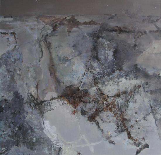张景泽 《望馀雪》 130x140cm 布面油画 2013年