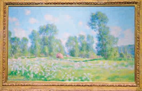 莫奈油画作品《春天的吉维尼》