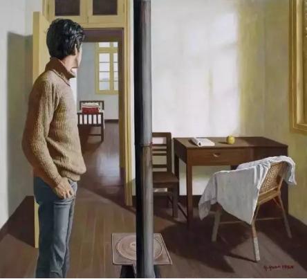 袁庆一 春天来了  布面 油画  1984年作  170 × 189 cm