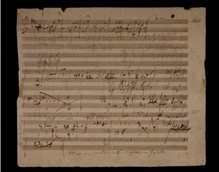 贝多芬  《庄严弥撒》创作乐稿  1页  28 x 24 cm