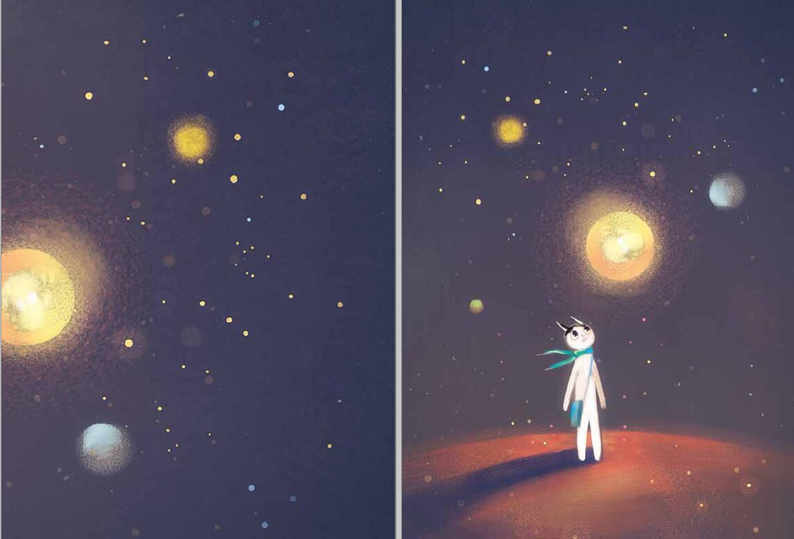 星空绘本图片素材
