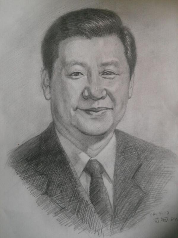 中考美术作品简笔画