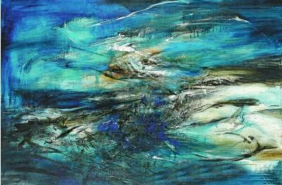 赵无极 《29.09.64》 230×345厘米 油彩、画布 1964年