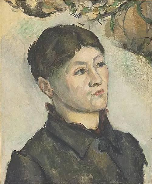 塞尚夫人肖像