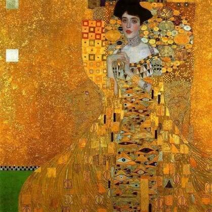 克里姆特《鲍尔夫人的肖像》