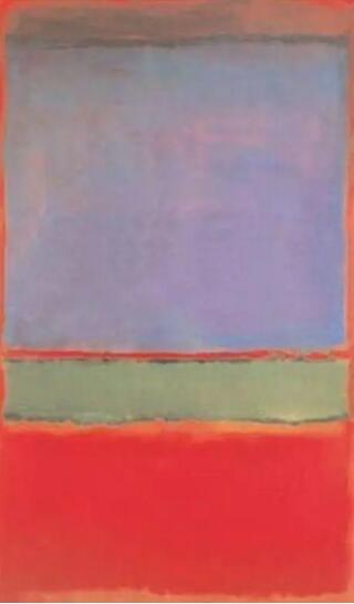 马克·罗斯科《紫色,绿色和红色》