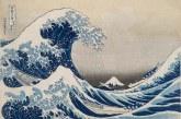 葛饰北斋创造的富士巨浪席卷大英博物馆