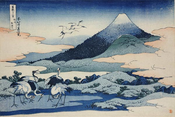 富岳三十六景之凯风快晴,葛饰北斋,木版画,1831年