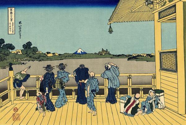 富岳三十六景之五百罗汉寺,葛饰北斋,木版画,1831年