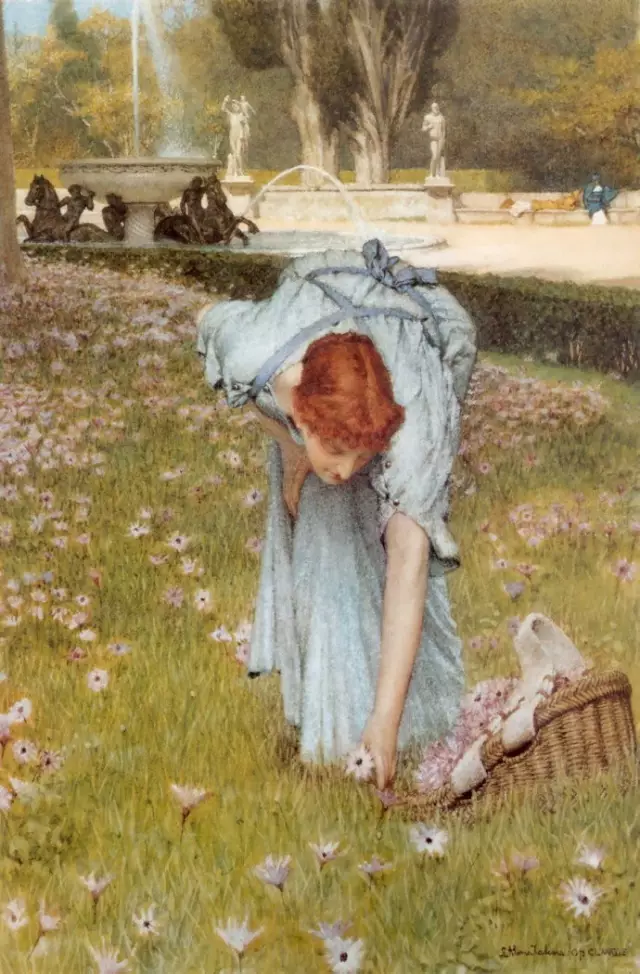 英国绘画大师阿尔玛-塔德玛的绘画作品 Lawrence Alma-Tadema