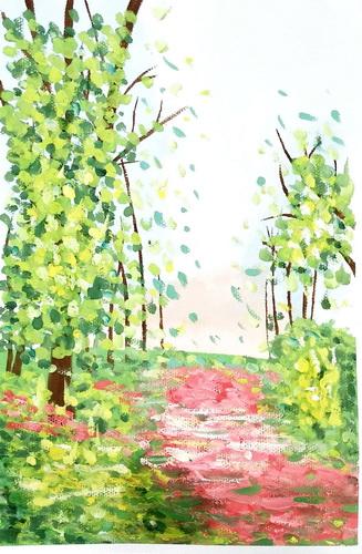 儿童画-水粉画-少儿水粉画系列图库001