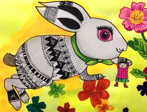 儿童画-水粉画-少儿水粉画-少儿书画大赛系列图库003