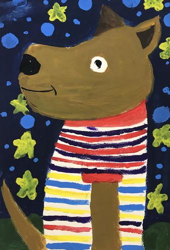 儿童画-水粉画-少儿水粉画-少儿书画大赛系列图库005