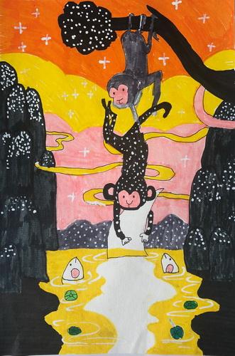 儿童画-水粉画-少儿水粉画-少儿书画大赛系列图库006