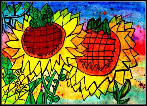 儿童画-水粉画-少儿水粉画-少儿书画大赛系列图库009