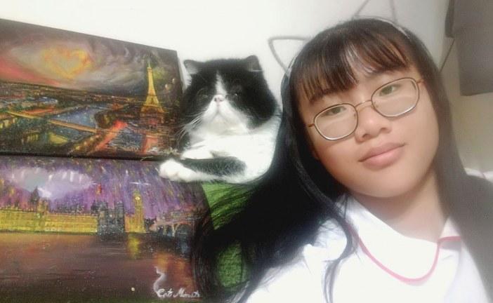 儿童画-You are as beaitiful as Paris in my dream(油画)-IN TONG CHAN-国际青少年美术家