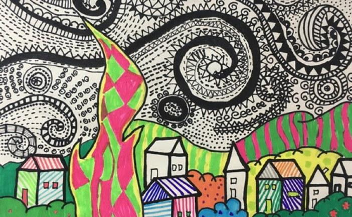 儿童画-装饰画-儿童装饰画-少儿书画大赛系列图库001