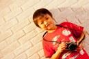 儿童画-自画像(水粉画)-肖敬书-国际青少年美术家