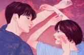 韩国插画师眼里《亲密的情侣触摸》