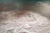 新疆库车峡谷首次发现飞天浮雕壁画