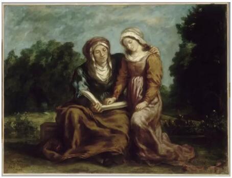 《圣母的教育》(L'Education de la Vierge),欧仁·德拉克罗瓦(Eugène Delacroix),1842,欧仁·德拉克罗瓦国立美术馆,巴黎  Photo (C) musée national Eugène Delacroix