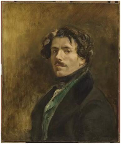 《穿绿色背心的自画像》(L'Autoportrait dit au gilet vert),欧仁·德拉克罗瓦(Eugène Delacroix),卢浮宫博物馆,巴黎  Photo (C) RMN-Grand Palais (musée du Louvre) / Michel Urtado