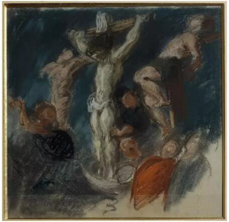 《矛击》(Le coup de lance),欧仁·德拉克罗瓦(Eugène Delacroix),1850,卢浮宫博物馆,巴黎  Photo (C) RMN-Grand Palais / Gérard Blot