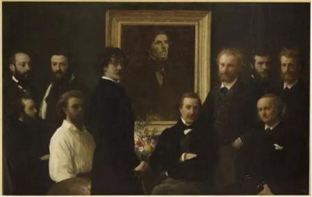 《致敬德拉克罗瓦》(Hommage à Delacroix),Ignace Henri Jean Théodore Fantin-Latour,奥赛博物馆,巴黎  Photo (C) Musée d'Orsay, Dist. RMN-Grand Palais / Patrice Schmidt