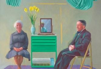 大卫·霍克尼作品《我的父母与我》首次展出