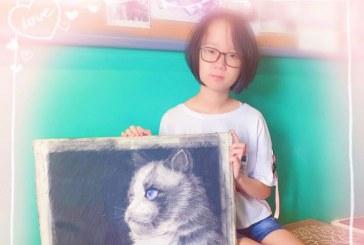 素描_小猫_蔡世彤_国际青少年美术家_少美联赛