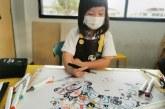 丙烯画_我和我的机器人朋友_董伊馨_国际青少年美术家_少美联赛