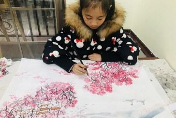 中国画_溪泉图_杨雯语_国际青少年美术家_少美联赛